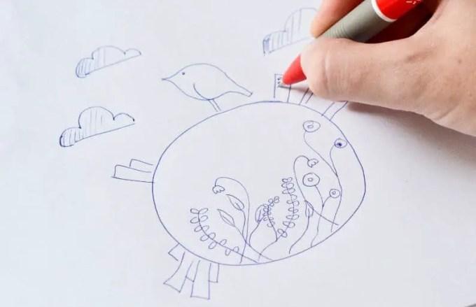 gambar doodle suara