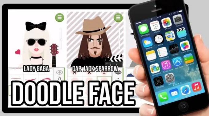 gambar doodle wajah