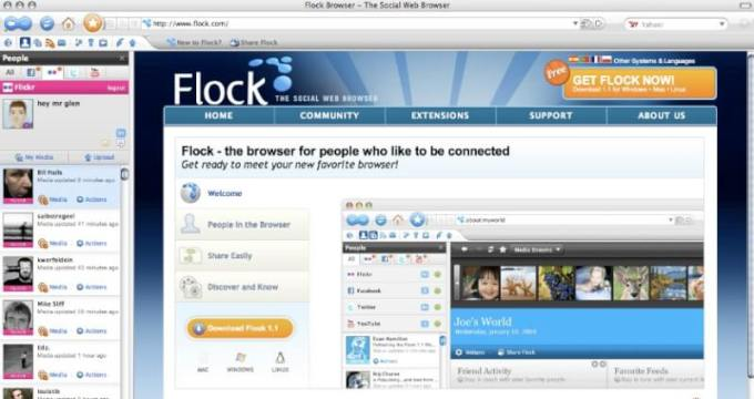 flock browser