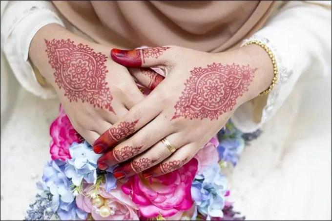 Henna Tangan Motif Extravagant Round