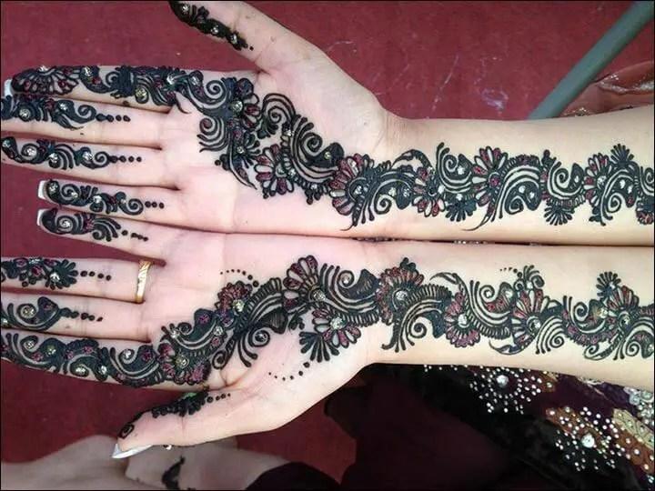 Motif Henna Tangan Simple Untuk Remaja