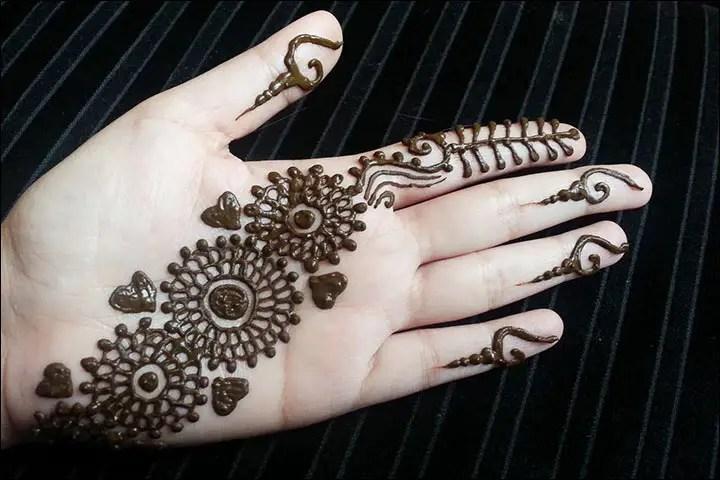 Model Henna Telapak Tangan Simple