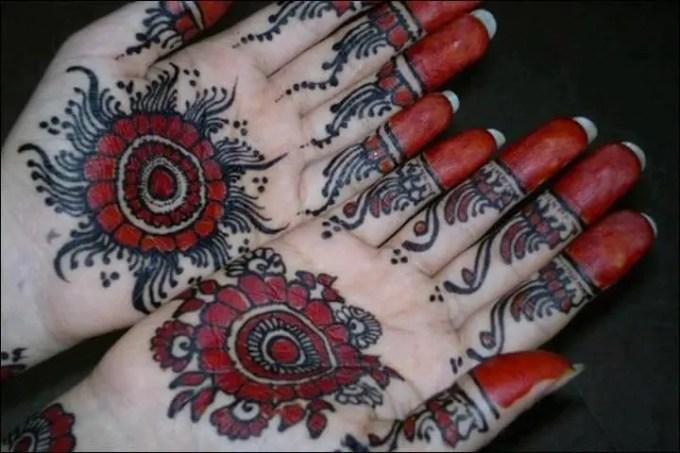 Red Henna Mehndi : Gambar henna tangan yang cantik dan simple beserta