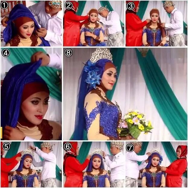 model hijab kebaya pengantin muslim modern