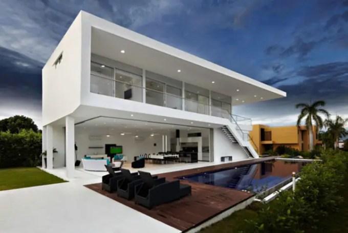 desain rumah minimalis di lahan luas