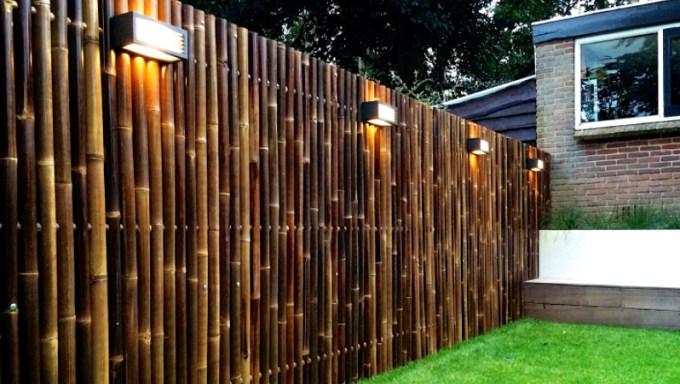 pagar rumah minimalis dari bambu