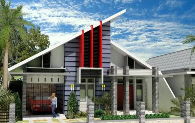 rumah minimalis atap miring