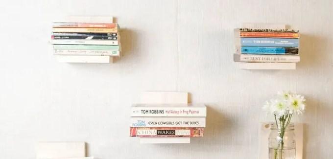 kerajinan rak buku dari stik es krim