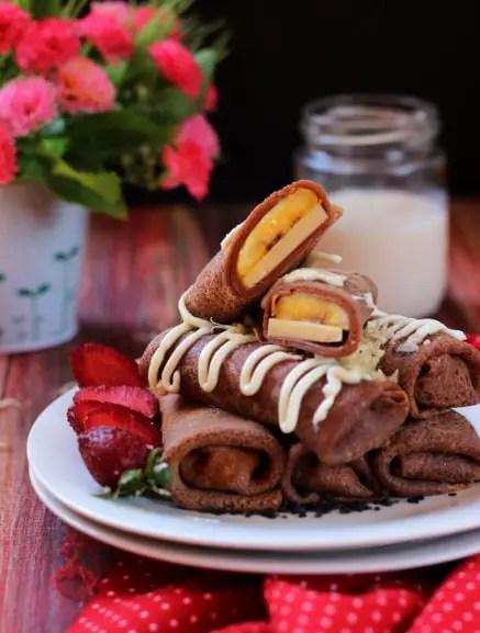 dadar gulung coklat isi pisang