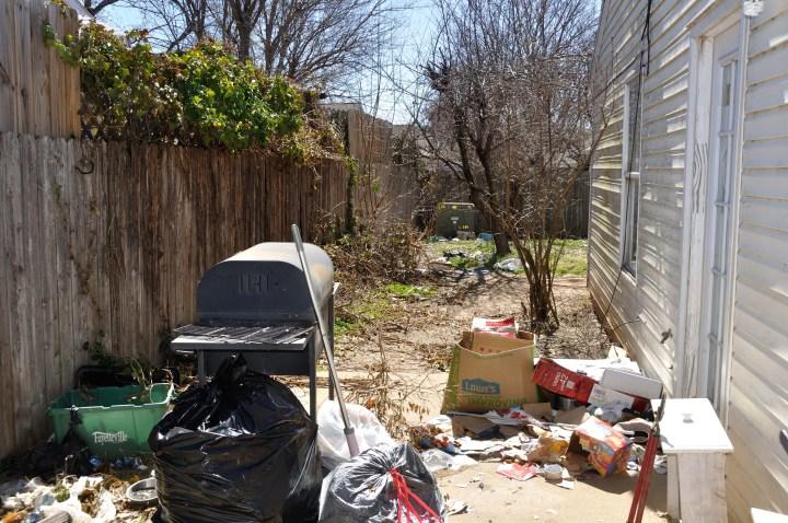 backyard 1 before
