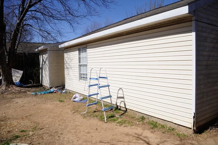backyard 3 before