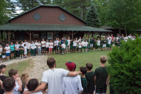 The Camp Gathering Before Dinner