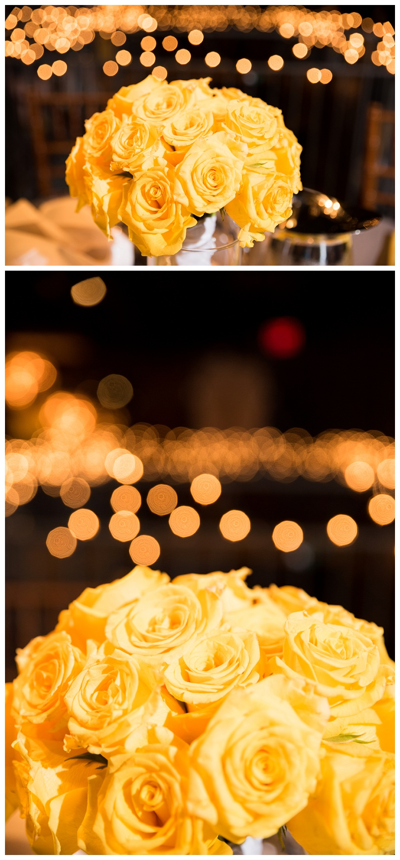 Yellow roses wedding bouqet