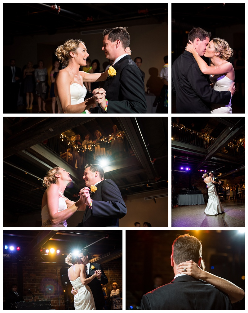 Bride and groom first dance at Dock 580