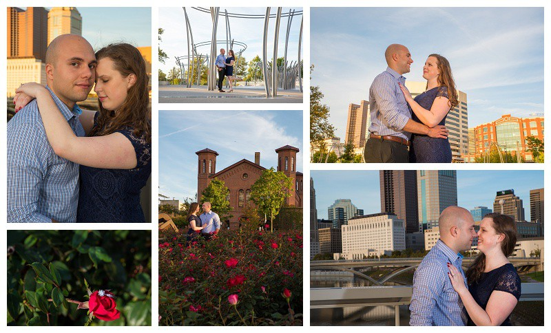 Millennial Park Engagement Pictures, Columbus, Ohio