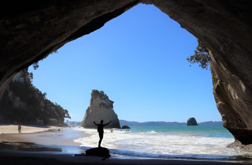 Cathedral Cove og Hot Water Beach