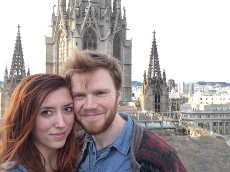 """""""we're on a roof in Barcelona!"""""""