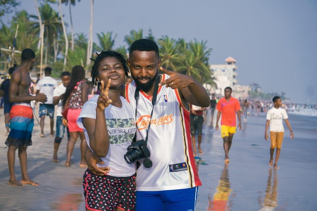 Ghana - Kokrobite, Strand - Reisen
