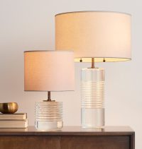 Tall Cut Crystal Table Lamp | Rejuvenation