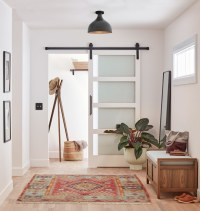 4 Panel Frosted Glass Barn Door - 36in. | Rejuvenation