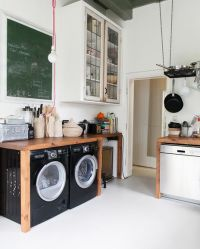 Cabinet for washing machine and dryer