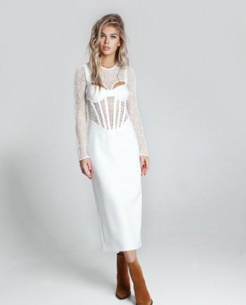 ПЛАТЬЕ CONTOUR CORSET LONGSLEEVE DRESS