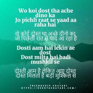 Best Friend Shayari in Hindi 2