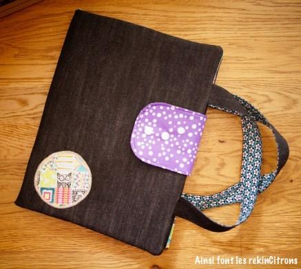 Pochette sacoche dessin enfant totems