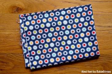 tissu etoiles multicolores bleu marine