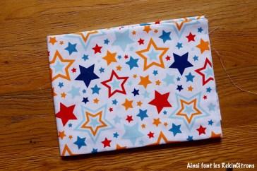 tissu riley blake etoiles rouge orange bleu