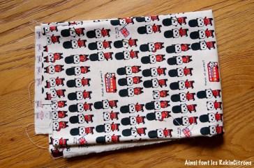 tissu toile kobayashi panda britanniques