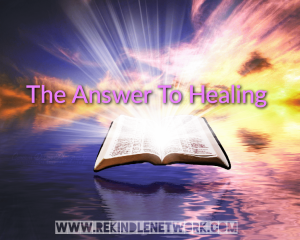 The Answer To Healing
