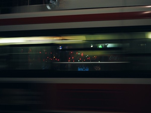 accelerating train