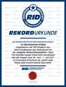 RID-Urkunde-Unterrichtsstaffel-Schule