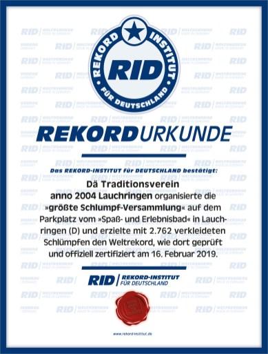 RID-Urkunde-Schlumpfversammlung-Veranstalter