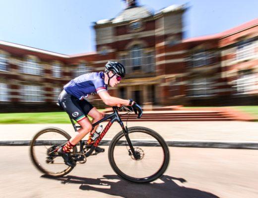 mountain bike riders pedal