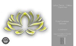 Rekt Lotus Decor - Yellow