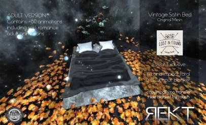 Rekt Vintage Satin Bed ADULT