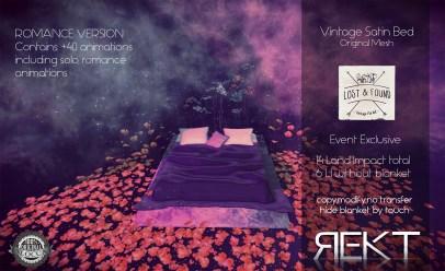Rekt Vintage Satin Bed ROMANCE
