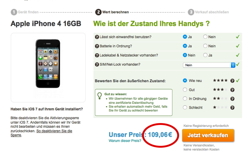 Iphone4Anfrage