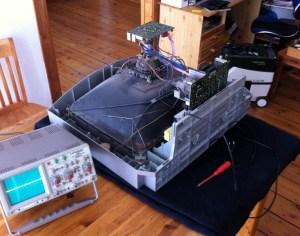 Reparaturen am Röhrenfernseher