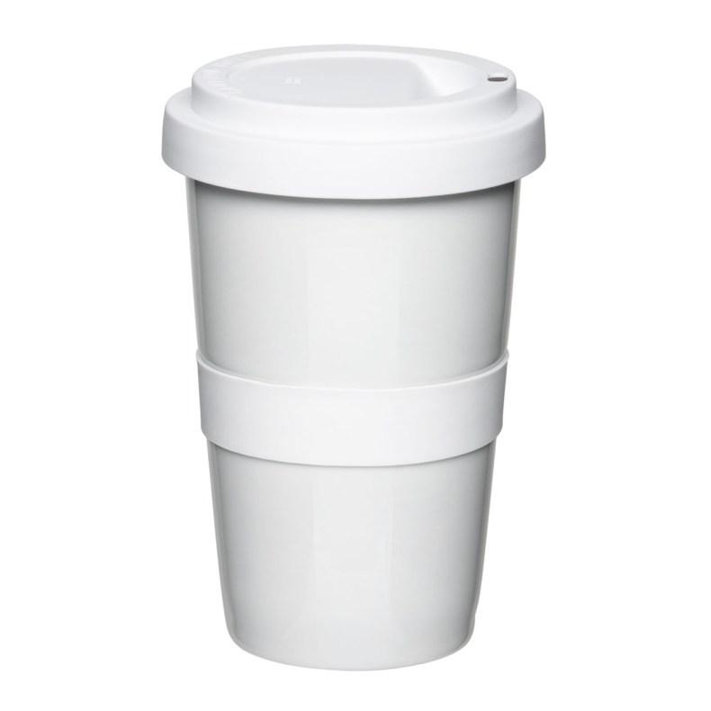 koffiebeker to go mahlwerck porselein blanco