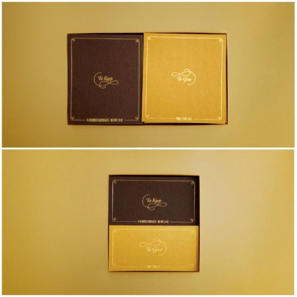 zeer originele geschenkverpakking godiva goud en bruin