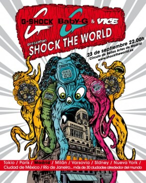 schock the world party madrid poster