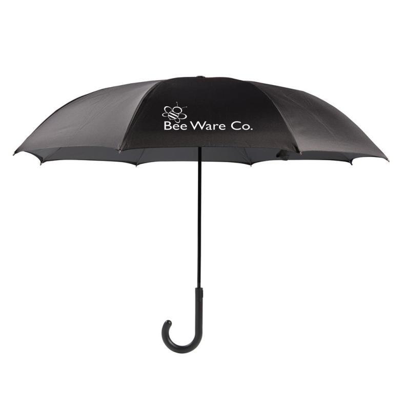 binnenstebuiten paraplu bedrukken logo