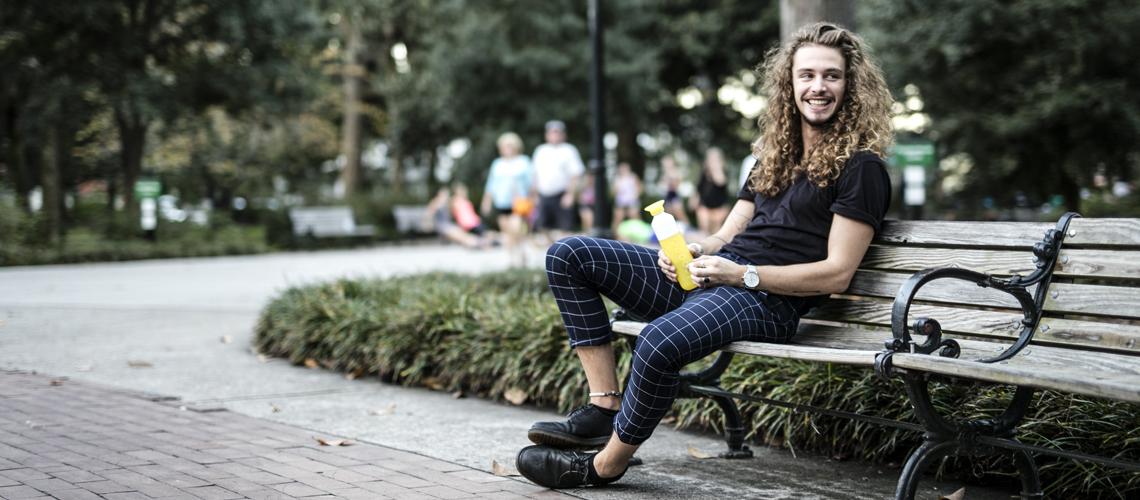 dopper duurzame waterflessen geel hipster
