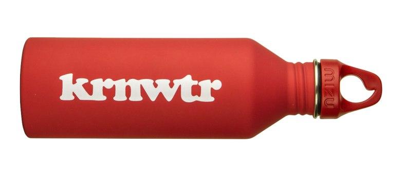 duurzame waterflessen krnwtr rood rvs fles