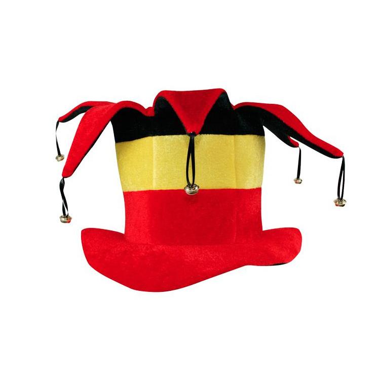 clown hoed met belletjes driekleur belgië belgische vlag hoedje