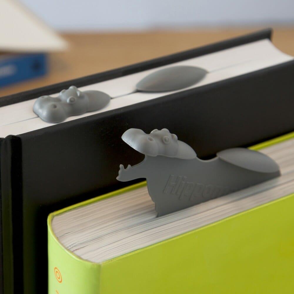 hippo nijlpaard boekenlegger bedrukken relatiegeschenk idee