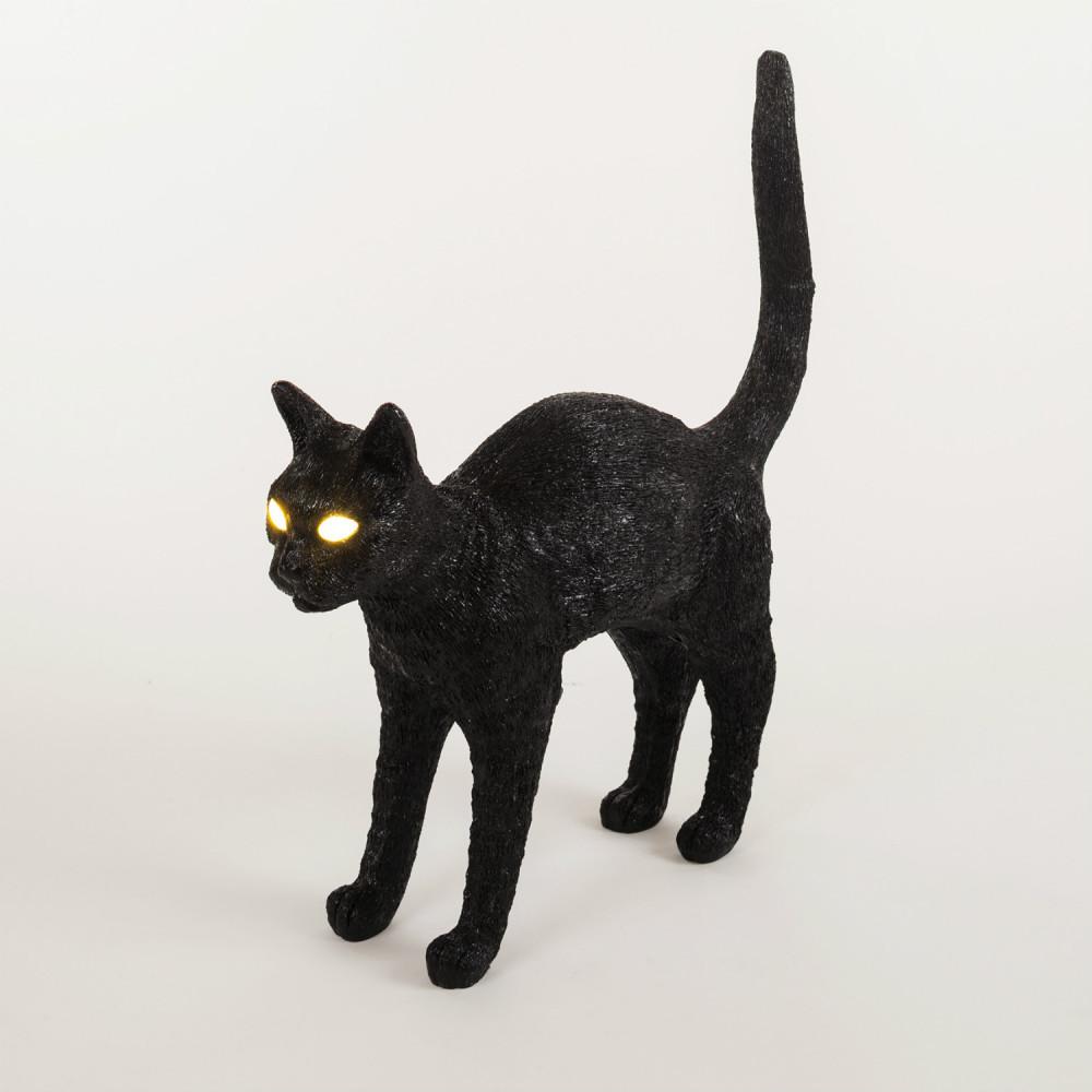 Seletti Cat lamp kat met gouden ballen zwart kunstzinnig relatiegeschenk idee